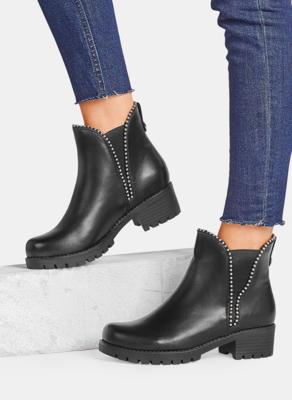 Czarne botki DeeZee w stylu casual na platformie