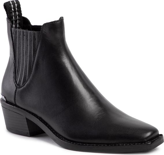 Czarne botki DKNY czarne GKpD9Mwj