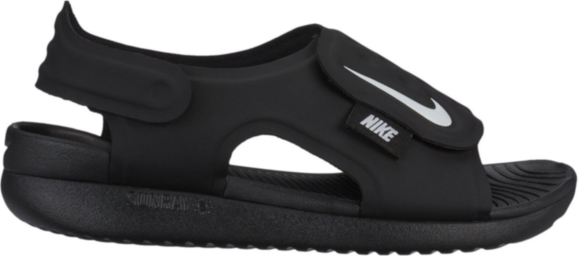 Czarne buty dziecięce letnie Nike na rzepy