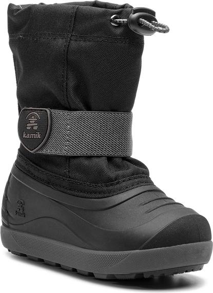Czarne buty dziecięce zimowe Kamik
