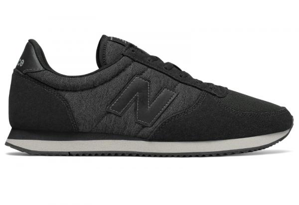 Czarne buty New Balance w sportowym stylu z płaską podeszwą sznurowane