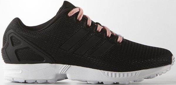 Czarne buty sportowe Adidas Originals sznurowane zx flux