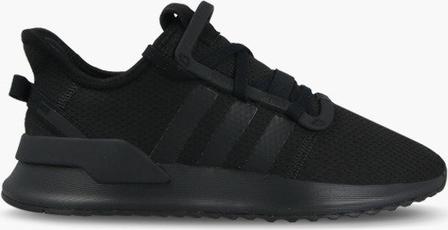 Czarne buty sportowe Adidas Originals w sportowym stylu na koturnie sznurowane