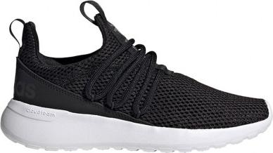 Czarne buty sportowe Adidas sznurowane ze skóry na platformie