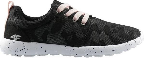 Czarne buty sportowe dziecięce 4F dla dziewczynek sznurowane