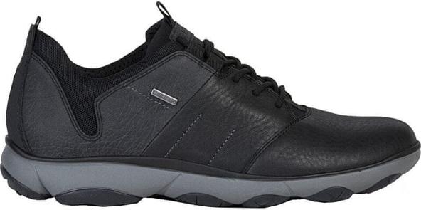 Czarne buty sportowe Geox ze skóry