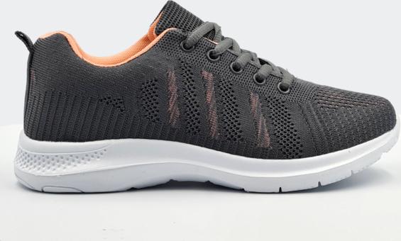 Czarne buty sportowe Labuty sznurowane z płaską podeszwą