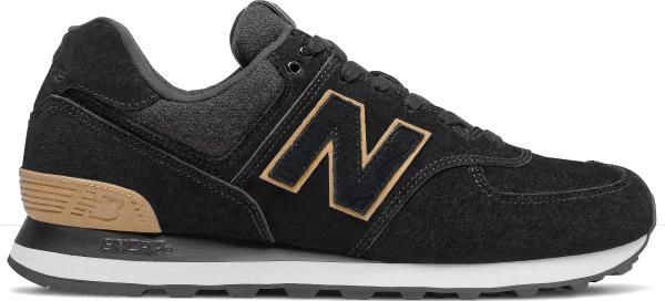 Czarne buty sportowe New Balance ze skóry 574