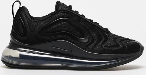 Czarne buty sportowe Nike sznurowane na platformie