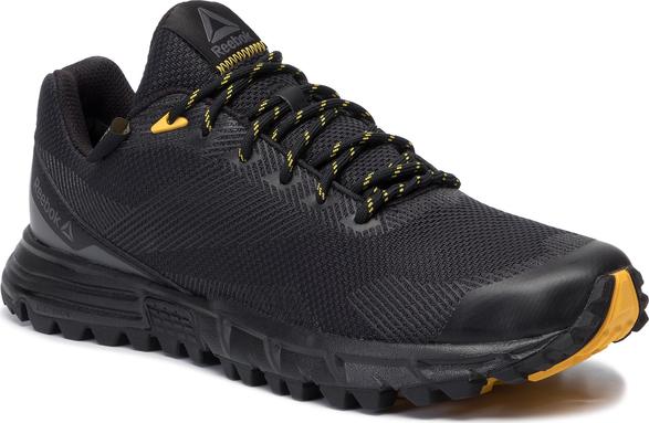 Czarne buty sportowe Reebok sznurowane z goretexu