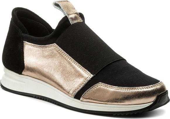Czarne buty sportowe sergio bardi z płaską podeszwą