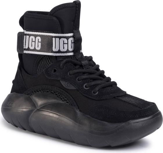 Czarne buty sportowe UGG Australia sznurowane