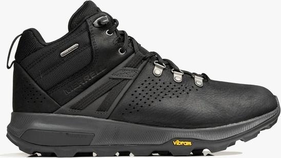 Czarne buty trekkingowe Merrell sznurowane z goretexu