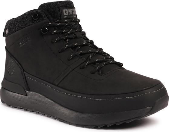 Czarne buty zimowe Big Star sznurowane