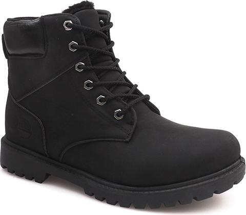 Czarne buty zimowe gemre