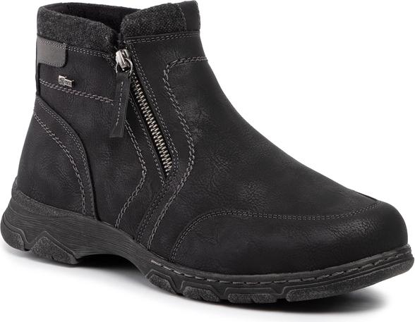 Czarne buty zimowe Go Soft na zamek