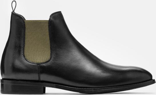 Czarne buty zimowe Kazar