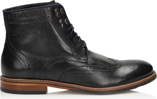 Czarne buty zimowe Kazar sznurowane