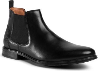 Czarne buty zimowe Lasocki For Men