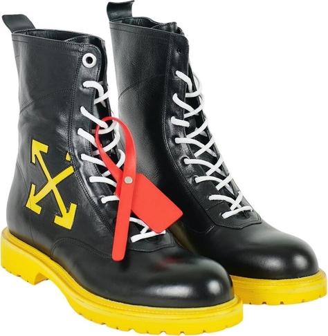 Czarne buty zimowe Off White sznurowane
