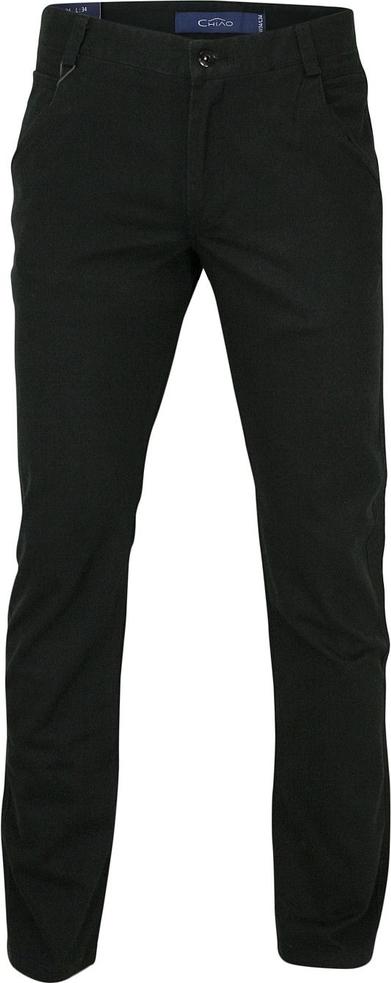 Czarne chinosy Chiao w stylu casual z bawełny
