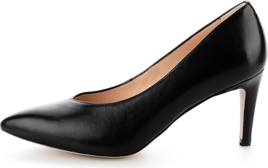 Czarne czółenka Prima Moda ze spiczastym noskiem