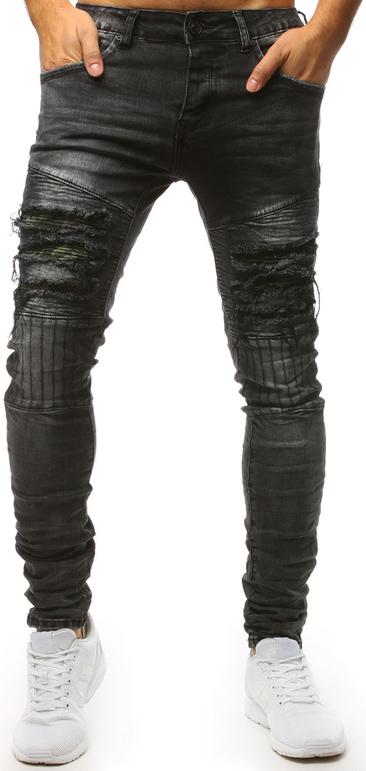 Czarne jeansy Dstreet