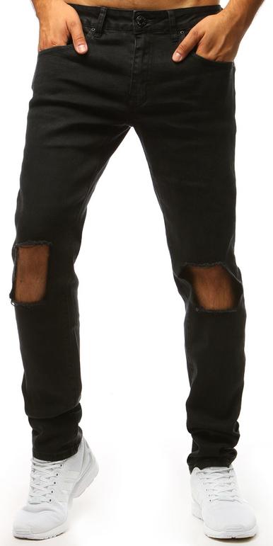 Czarne jeansy Dstreet w młodzieżowym stylu