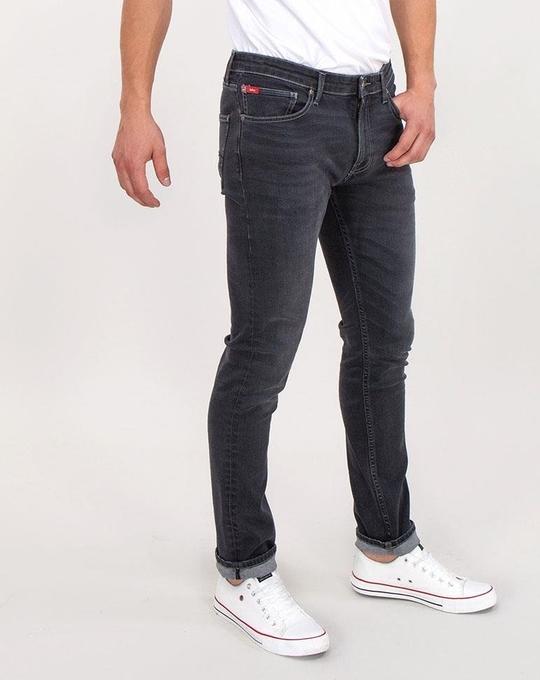 Czarne jeansy Lee Cooper z bawełny