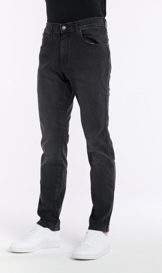 Czarne jeansy Wrangler w stylu casual