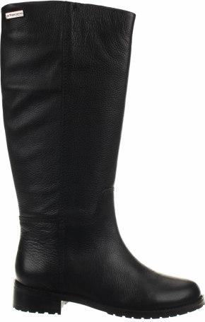 Czarne kozaki Les Tropéziennes par M Belarbi w stylu casual przed kolano z płaską podeszwą