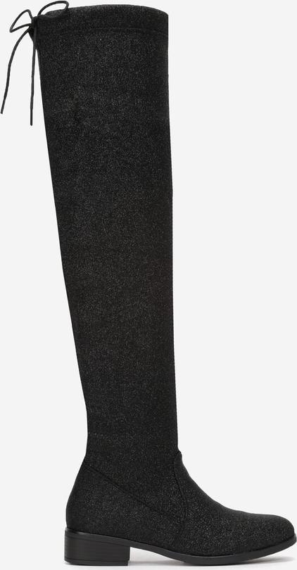 Czarne kozaki Multu na zamek za kolano