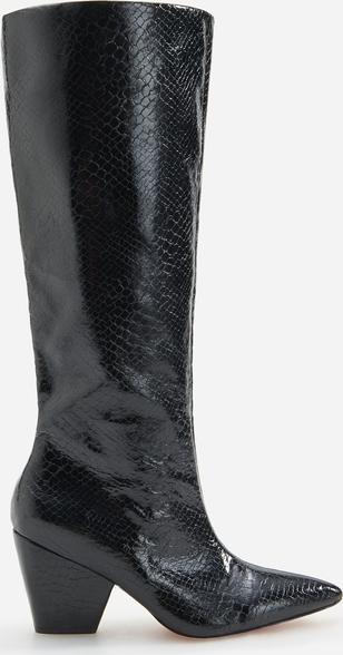 Czarne kozaki Reserved przed kolano na zamek