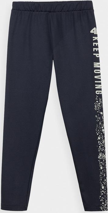 Czarne legginsy dziecięce 4F