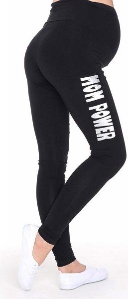 Czarne legginsy Inne z bawełny
