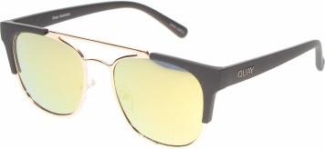 Czarne okulary damskie Quay