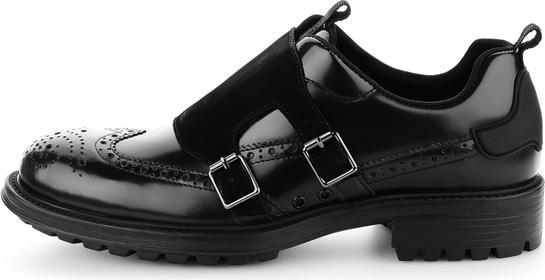 Czarne półbuty Prima Moda