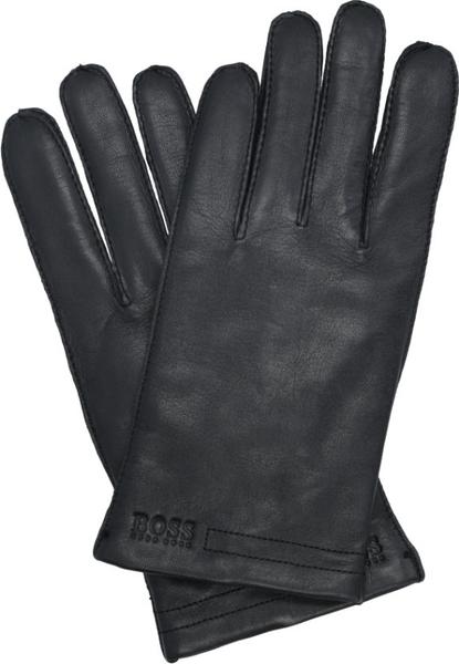 Czarne rękawiczki Boss