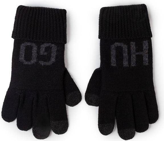 Czarne rękawiczki Hugo Boss