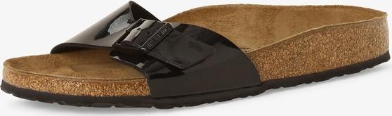 Czarne sandały Birkenstock w stylu glamour