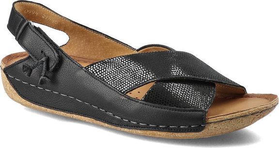 Czarne sandały Maciejka w stylu casual