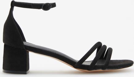 Czarne sandały Reserved na niskim obcasie
