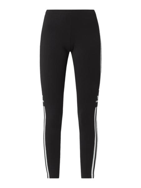 Czarne spodnie Adidas Originals w sportowym stylu z bawełny