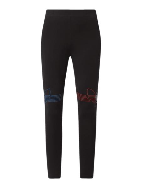Czarne spodnie Adidas Originals z bawełny w sportowym stylu