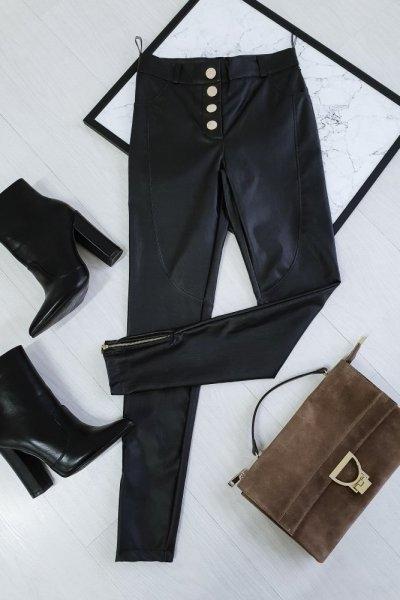 Czarne spodnie chantel.pl z bawełny