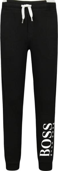 Czarne spodnie dziecięce Hugo Boss