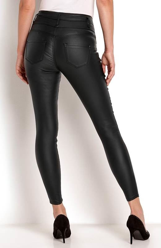 Czarne spodnie Happy Holly w stylu glamour