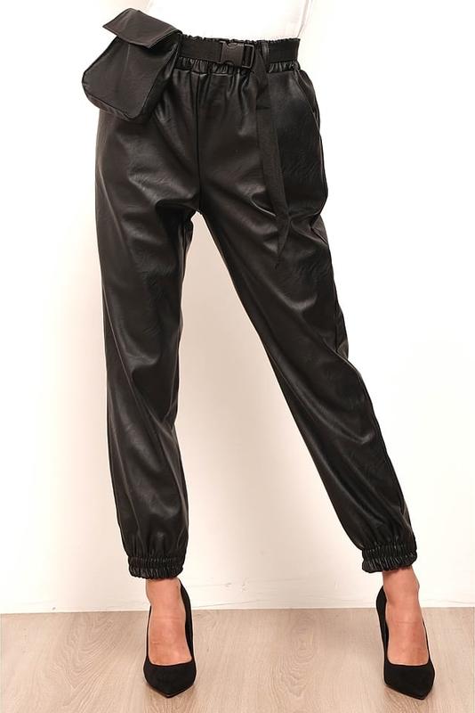 Czarne spodnie Nina`s Closet w rockowym stylu