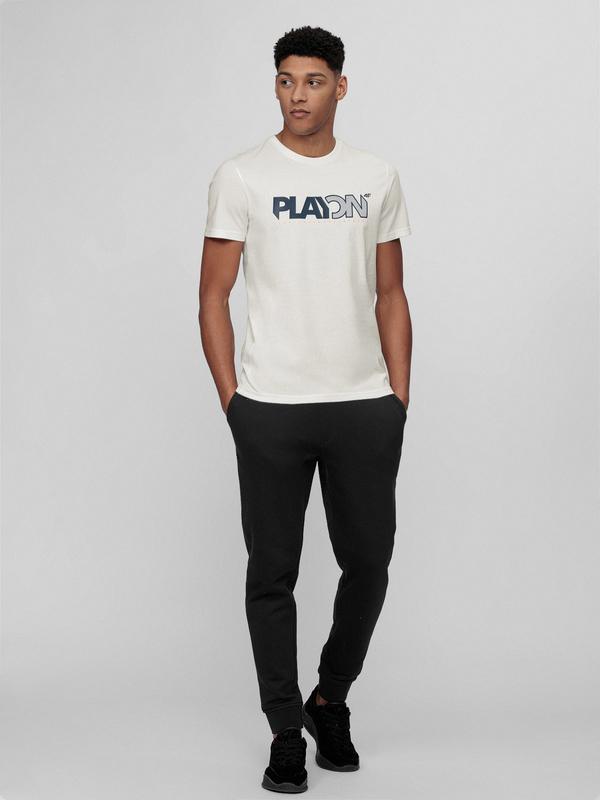 Czarne spodnie sportowe 4F z dresówki