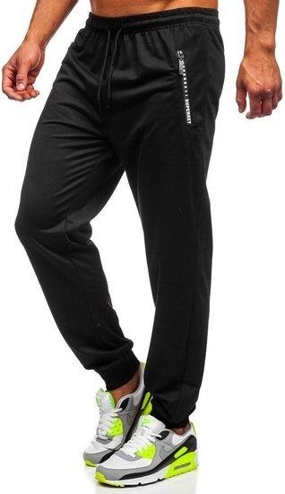 Czarne spodnie sportowe Denley